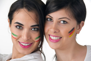 Female Supporters of Different Nationalities, isolated