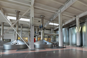 Interior of the brewery