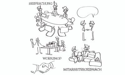 Besprechung, Workshop, Mitarbeitergespräch