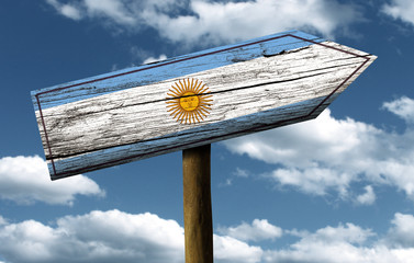 Wooden Argentinian sign on a wonderful day