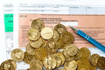 Filling in polish individual income tax form PIT-36