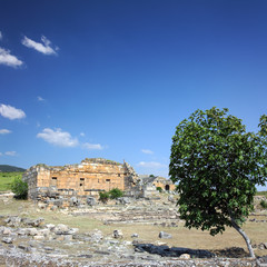 landscape with ancient ruins in Turkey