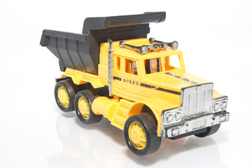 toy car the truck isolated on a white background
