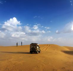 jeep in desert - safari