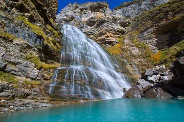 Cascada Cola de Caballo at Ordesa Valley Pyrenees Spain