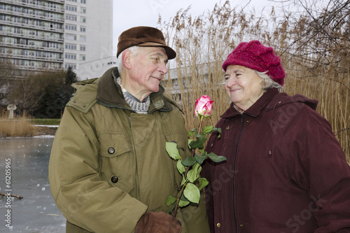 The senior couple on Valentines day