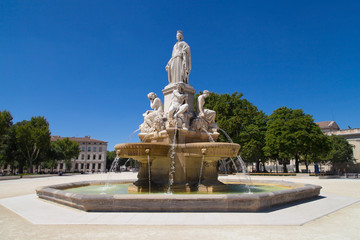 Esplanade Charles de Gaulle in Nimes