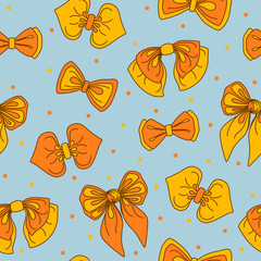 Bow-tie collection seamless pattern