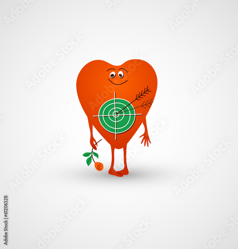 Heart is love target