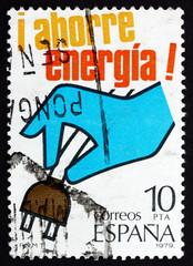 Postage stamp Spain 1979 Hand Pulling Plug