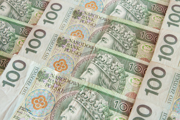 Polish money 100 zloty
