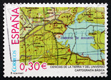 Postage stamp Spain 2007 Map, Cartography poster