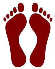 Fussabdruck Fußabdruck  #140207-svg02