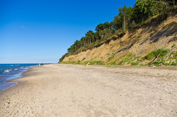 Baltics beach with cliff