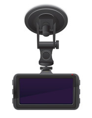 car recorder back view vector illustration