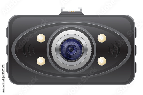car recorder front view vector illustration