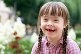 Fototapety Portrait of beautiful young girl smiling