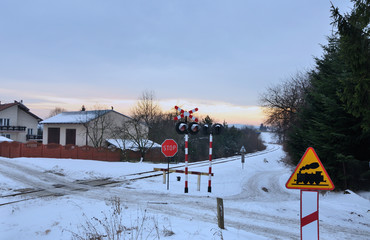 Unguarded railway crossing