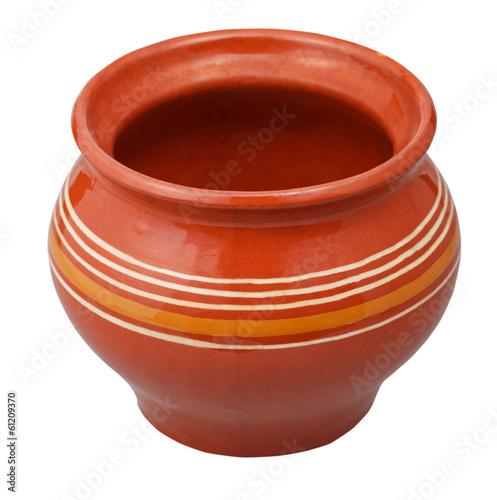 open porcelain pot