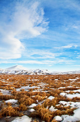 Wintry landscape from Iceland