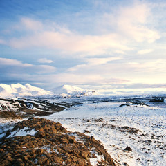 Wintry autumn landscape from Iceland