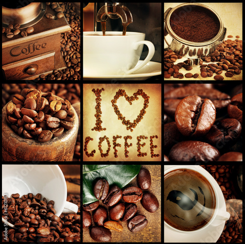 coffee concept collage