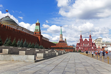 Moscow, Russia . Tourists on Red Square