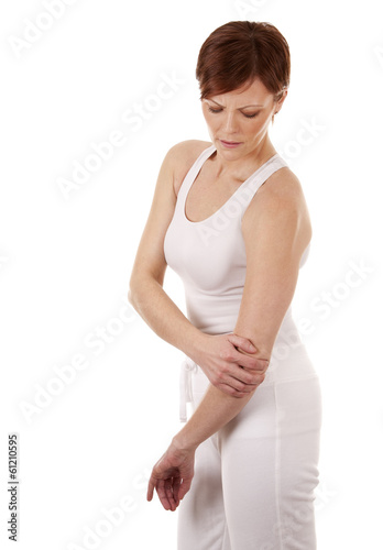 woman having a elbow pain