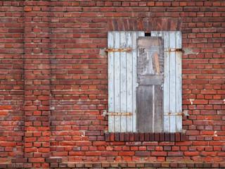 Vernagelter Fensterladen