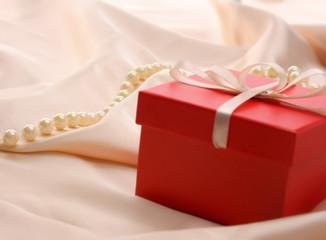 Gift on silk.