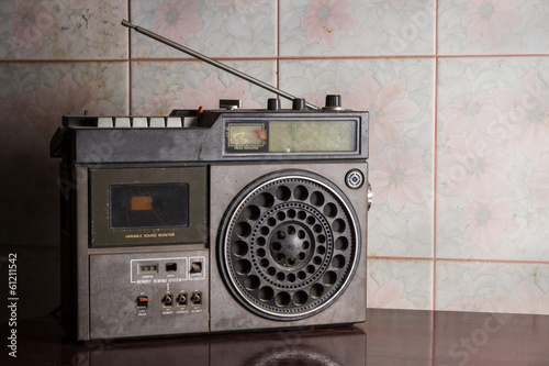 Still life old radio.