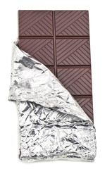 chocolate bar in foil