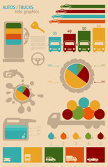 Auto / Trucks Transportation Infographics