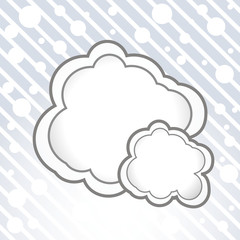 Vector cloud bubble.