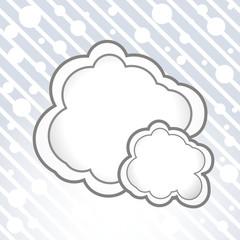 Vector cloud bubble.