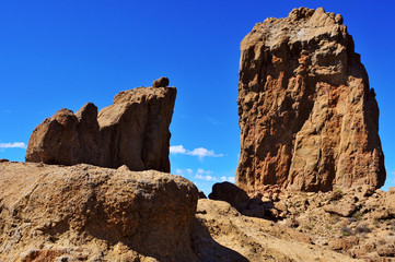 Roque Nublo monolith in Gran Canaria, Spain