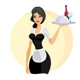 beautiful waitress