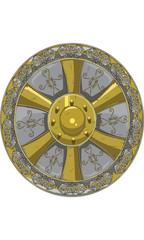 Ornate Round Shield vector