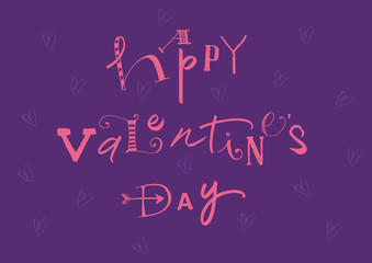 Calligraphic Happy Valentines Day