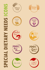Special Dietary Needs Icons