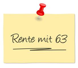 Zettel Rente 63