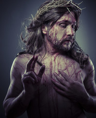 Religion, representation of Jesus Christ on the cross