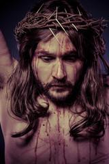 Bible, representation of Jesus Christ on the cross