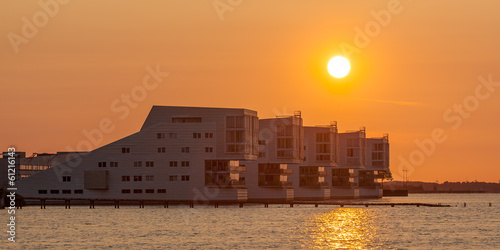 Modern Apartments at Sunset in Huizen, the Netherlands resemblin