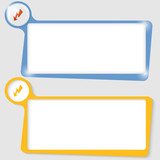 set of two text boxes for text with the flash poster