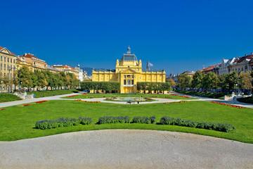 Pavillion in green park of Zagreb