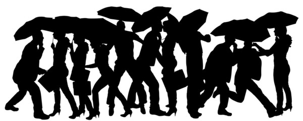 Vector silhouette of people.