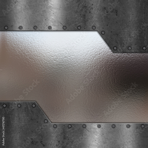 Scratched metal and chrome background
