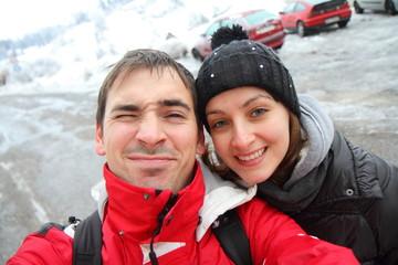 fotoricordo sulla neve