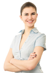 Portrait of a confident young woman standing
